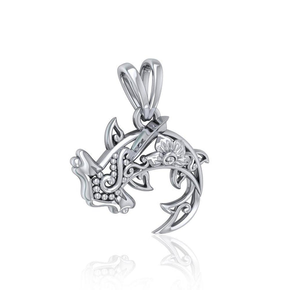 Swim through the endless journey Sterling Silver Hammerhead Shark Filigree Pendant Jewelry TPD5146