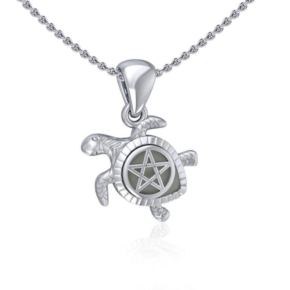 Sea Turtle with Star Silver Pendant TPD5205