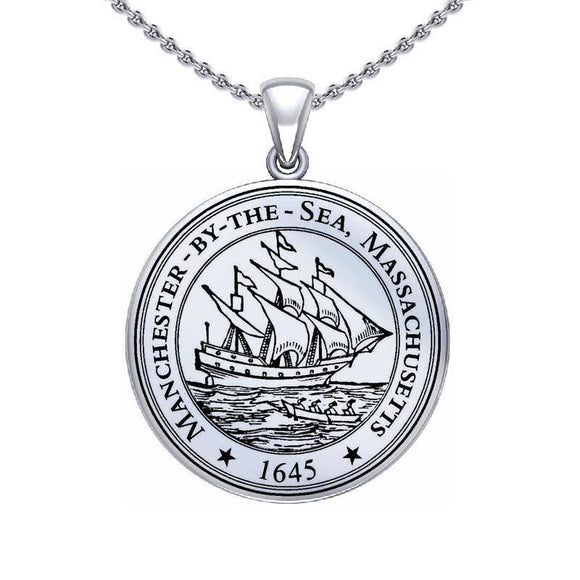 Manchester By The Sea Sterling Silver Pendant Large Version TPD5526 - Pendant