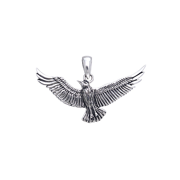 Seagull In Flight Sterling Silver Pendant TPD589