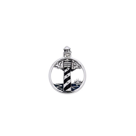 Lighthouse Sterling Silver Pendant TPD607