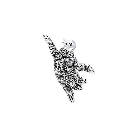 Dancing Penguin Sterling Silver Pendant TPD709