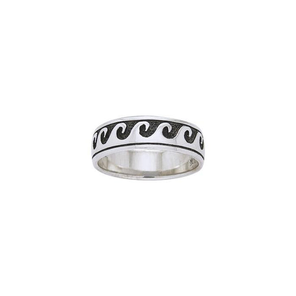 The Perfect Waves Sterling Silver Ring TR035
