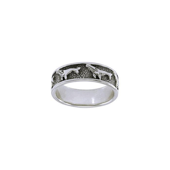 Humpback Whale Pod Sterling Silver Ring TR074