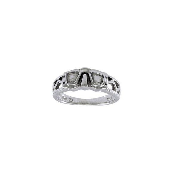 Dive Mask Sterling Silver Ring TR1447