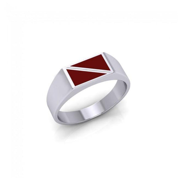 Flag Dive Sterling Silver Ring TR1794