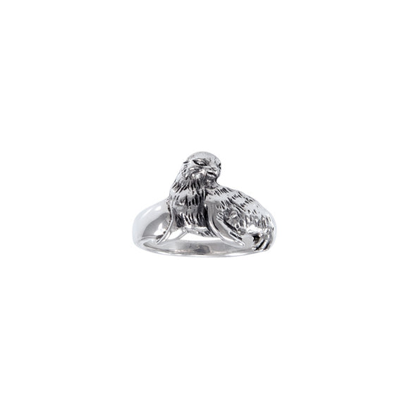 Sea Lion Sterling Silver Ring TR2367