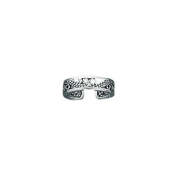 Waves Sterling Silver Toe Ring TR238