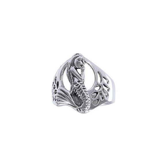 Mermaid Sterling Silver Ring TR3115