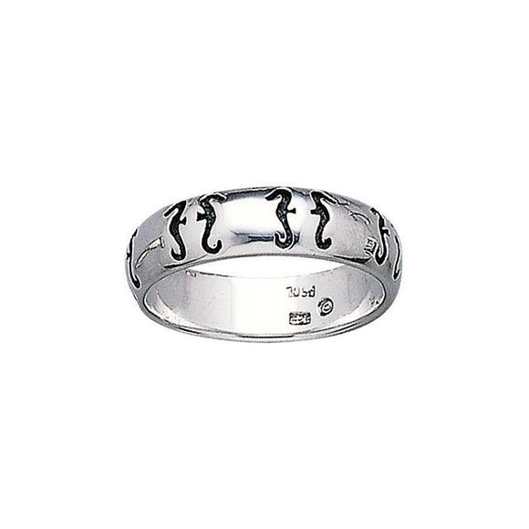 Seahorse Sterling Silver Ring TR3291