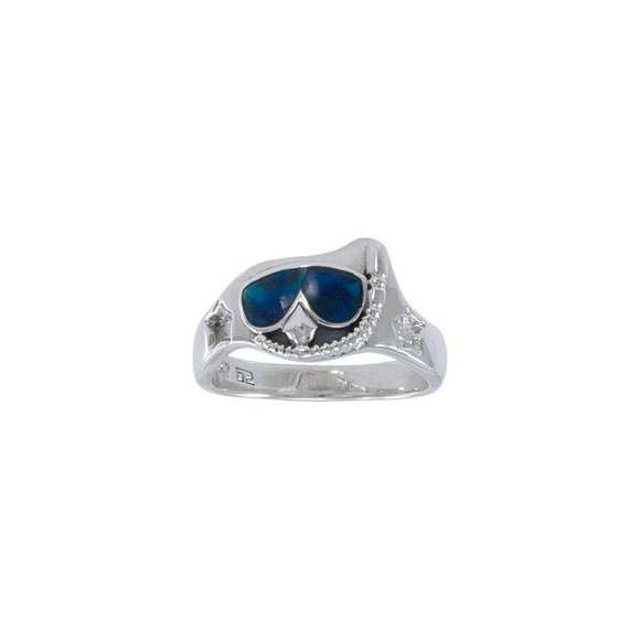 Dive Mask Sterling Silver Ring TR3314