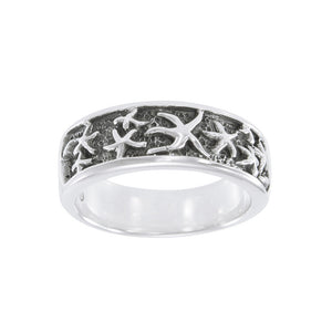 Starfish Sterling Silver Ring TR3329 - Rings