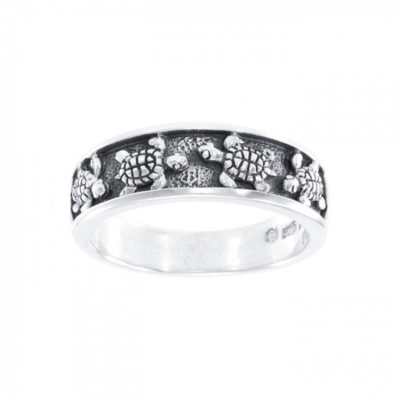 Turtle Sterling Silver Ring TR3330 - Rings