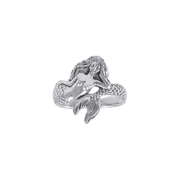 White Mermaid Sterling Silver Ring TR3356 - Rings