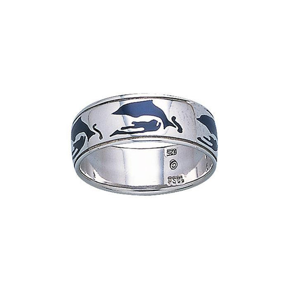Dolphins Sterling Silver Ring TR3456