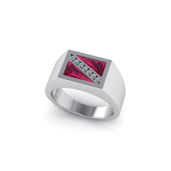 Dive Flag Sterling Silver Ring TR3510 - Rings