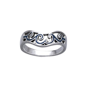 Surf Up Wave Sterling Silver Ring TR3604