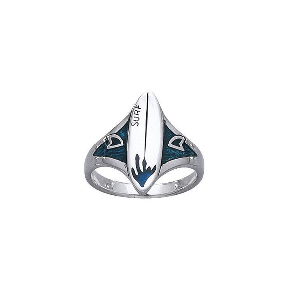 Surfboard Sterling Silver Ring TR3645