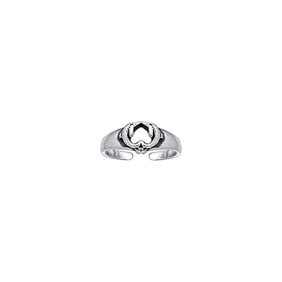 Kissing Dolphins Sterling Silver Toe Ring TR3717