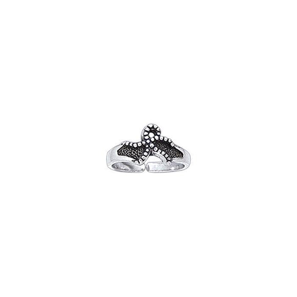 Starfish Sterling Silver Toe Ring TR3723