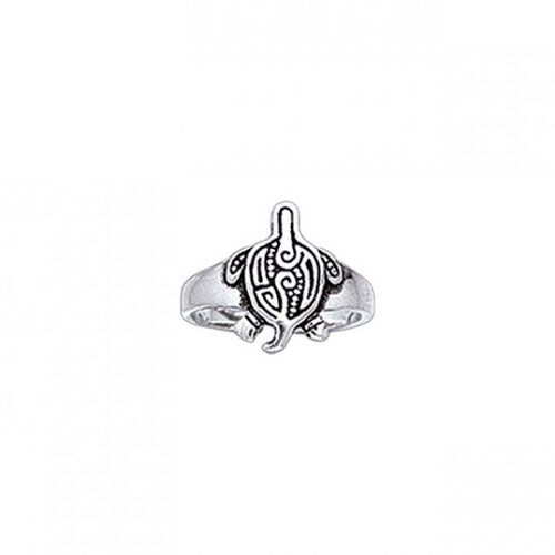Aboriginal Turtle Silver Toe Ring TR3724