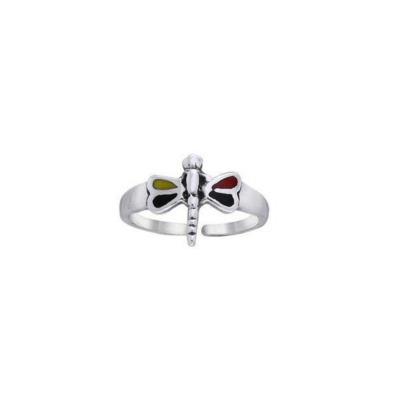 Dragonfly Silver Toe Ring TR3729