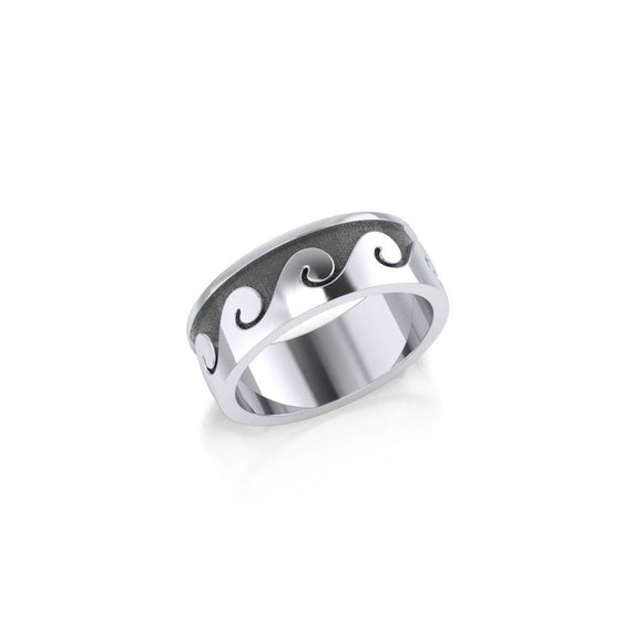 Big Wave Sterling Silver Ring TR551 - Rings