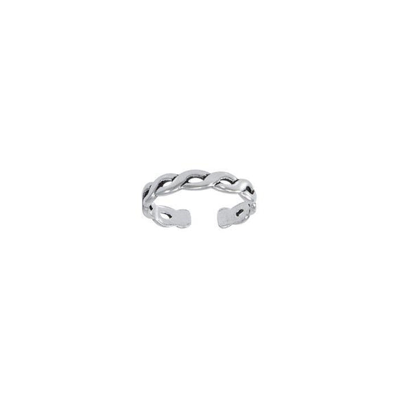Waves Sterling Silver Toe Ring TR607