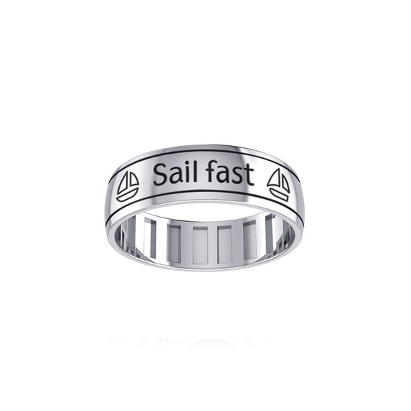 Sail Fast Sail Forever Spinner Ring TRI1429