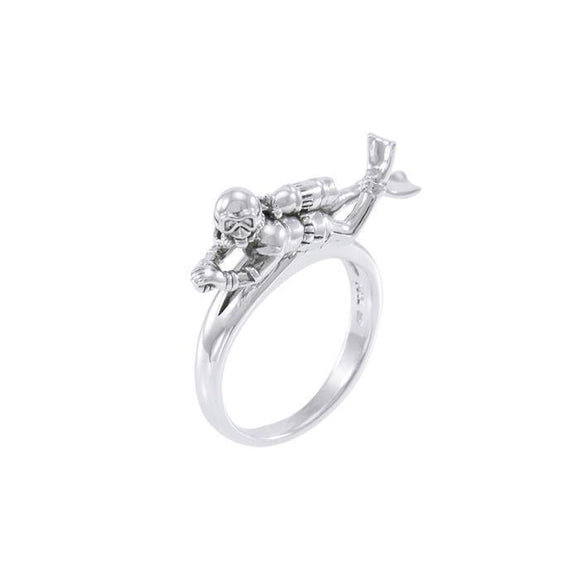 Diver Sterling Silver Ring  TRI1634