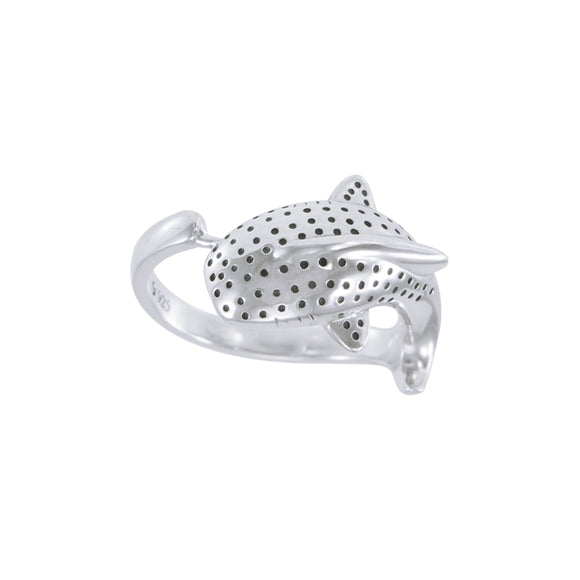 Whale Shark Sterling Silver Ring TRI1642 - Rings