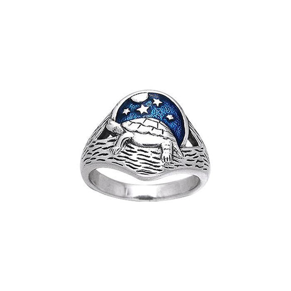 Turtle Sterling Silver Ring TRI164