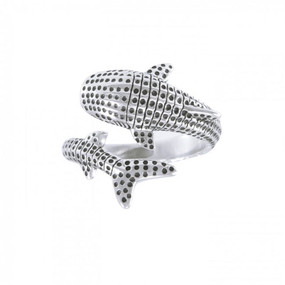 Whale Shark Sterling Silver Ring TRI1652 - Rings