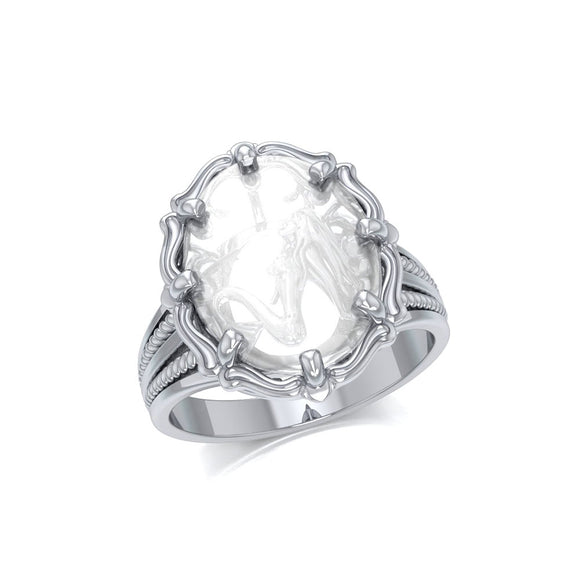 Mermaid Sterling Silver Ring with Clear Quartz TRI1729