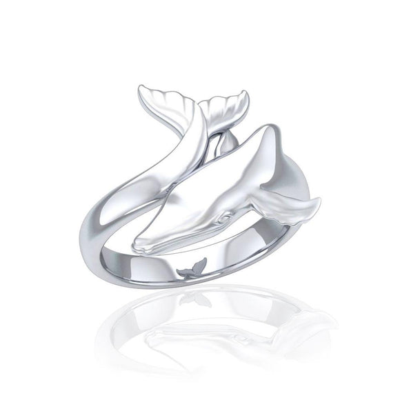 Graceful Mike Whale Silver Ring TRI1767