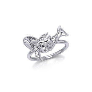 A gift of solitudeSilver Humpback Whale Filigree Ring TRI1795