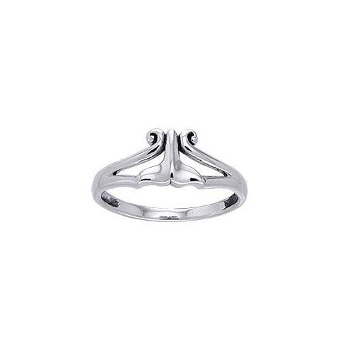 Whale Tail Sterling Silver Ring TRI387