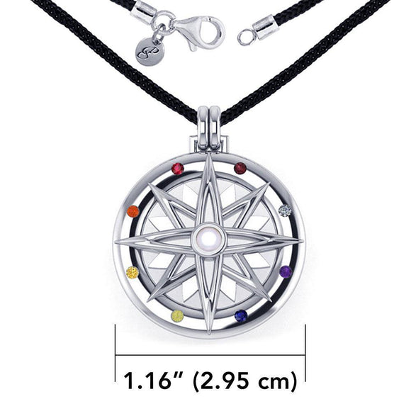 Compass Rose Gemstone Necklace Set TSE688