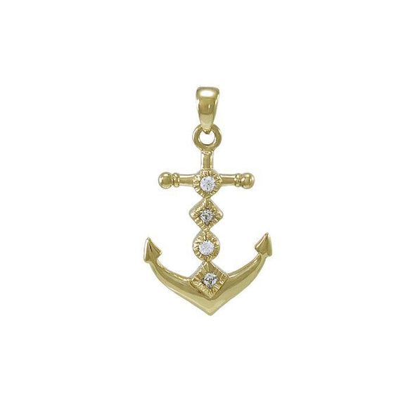Anchor Gemstone Pendant VPD4047