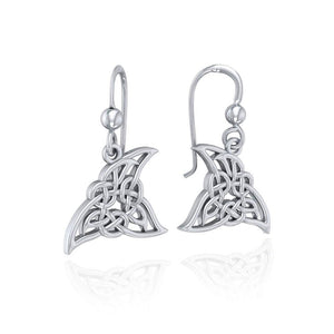 Celtic Shark Fin Silver Earrings TER1722