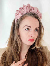 Load image into Gallery viewer, A Pink Scrunchie Headband Eco Friendly