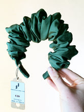 Load image into Gallery viewer, All Sold Out More Soon! A Green Scrunchie Headband Eco Friendly