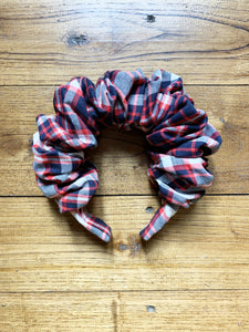All Sold Out More Soon! Tartan Scrunchie Headband Eco Friendly