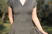 Load image into Gallery viewer, Fitted Dress with Gathered Pleats