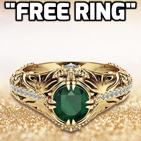 Striking Emerald & Zirconia Ring