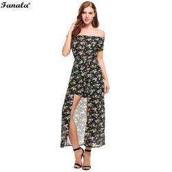 Women's Sexy Summer Off Shoulder Floral Jumpsuit