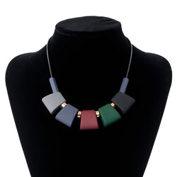 Colorful Wood Necklace For Women