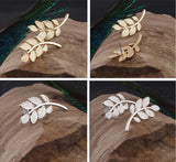 Metal Leaves Stud Earrings