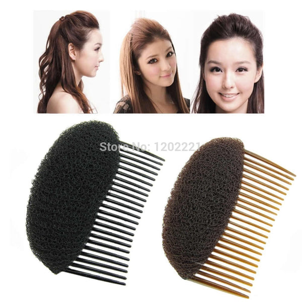 1pc Hair Styler Volume Bouffant Beehive Bump Foam On Clear Comb