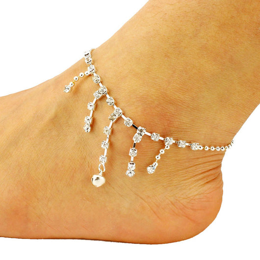 Diamond Tassel Anklets